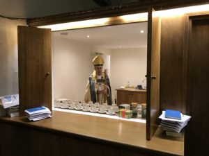 Bishop Toby blesses the new Church servery