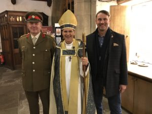 Deputy Lord Lieutenant David Pearson and Cllr. Glenn Miller with Bishop Toby