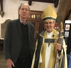 Our architect Rob Craggs with Bishop Toby